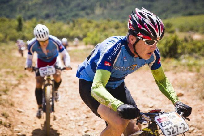 Team TerreActive IT Security making the climbs during the 2015 Absa Cape Epic look easy